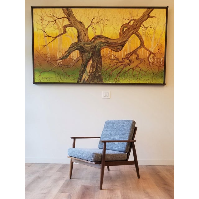 Newly Upholstered Viko Baumritter Walnut Armchair For Sale - Image 12 of 12
