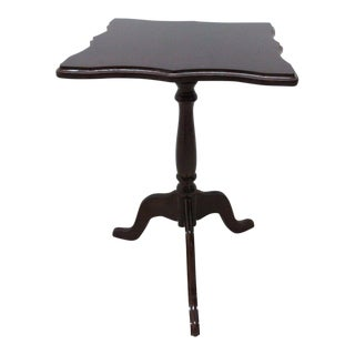 Bombay Company Cherry Lamp End Table Pedestal Stand For Sale