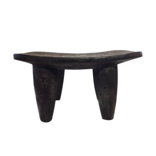 "African Senufo Wood Kids Milk Stool I . Coast 16.25"" W by 8.75"" H For Sale"