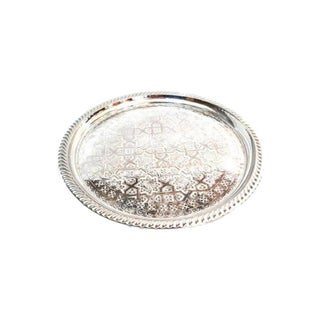 Moroccan Silver Tray For Sale