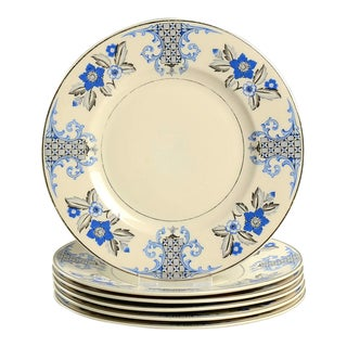 1930s Syracuse Lady Mary Salad Plate - Set of 6 For Sale