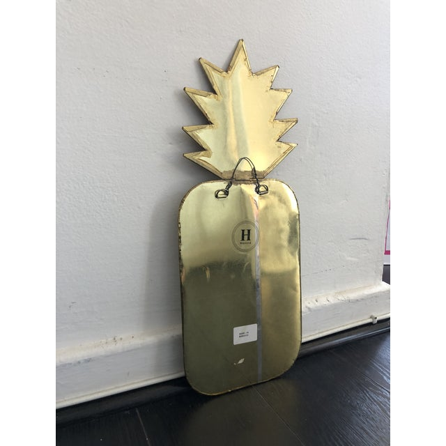2010s Honore Gold Pineapple Wall Mirror For Sale - Image 5 of 7