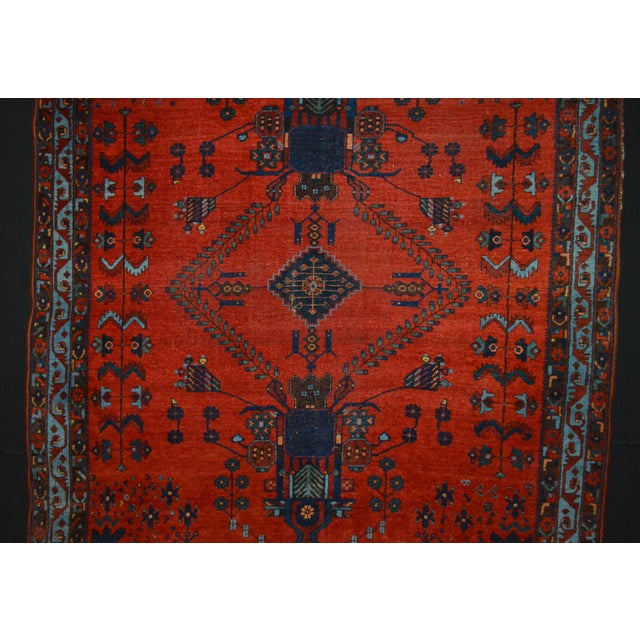 "Antique Persian Afshar Rug - 4'6"" x 5'5"" - Image 4 of 8"