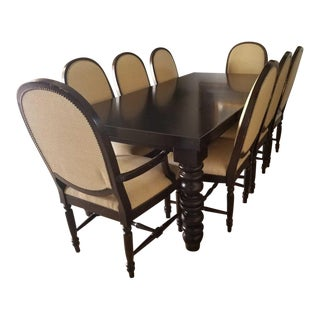 Postobello Collection Wellsley Dining Table With Two Leaves and Chairs - Dining Set