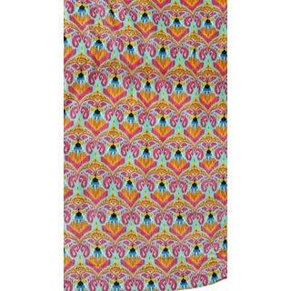 Vibrant Ikat Velvet Textile For Sale