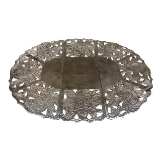 1970s Silver-Plated Trivet By Leonard For Sale