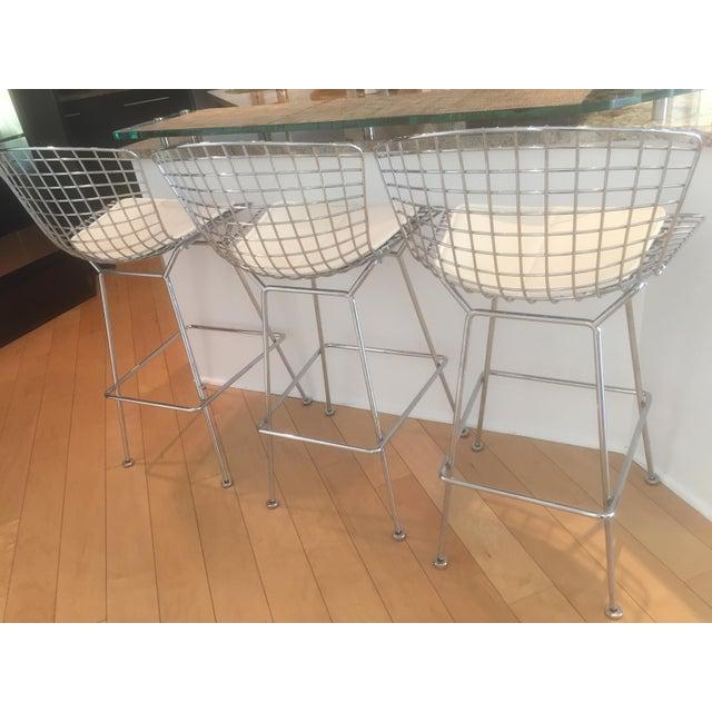 Knoll Bertoia Chrome Bar Stools - Set of 3 - Image 5 of 11