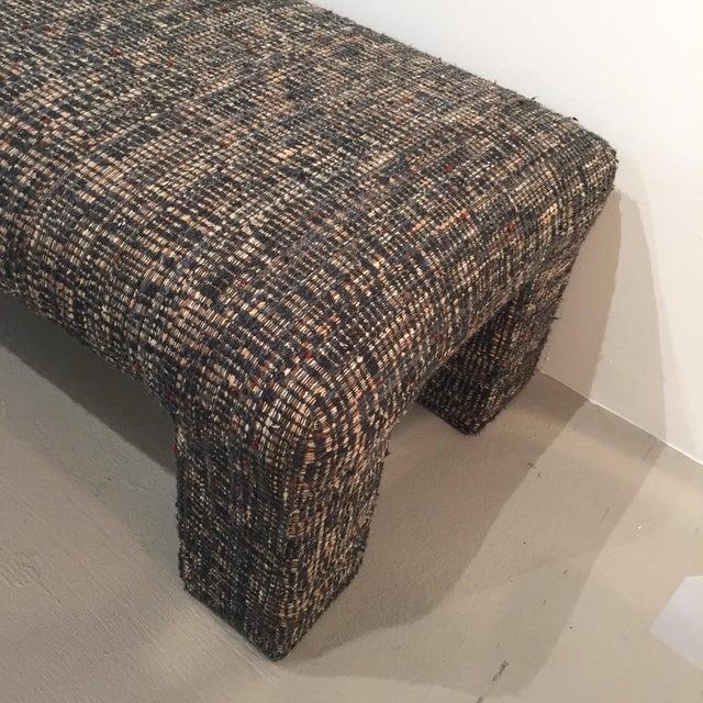 Vintage Tweed Upholstered Bench - Image 5 of 6
