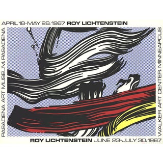 Roy Lichtenstein Brushstrokes at Pasadena Art Museum 1967 Serigraph Poster For Sale