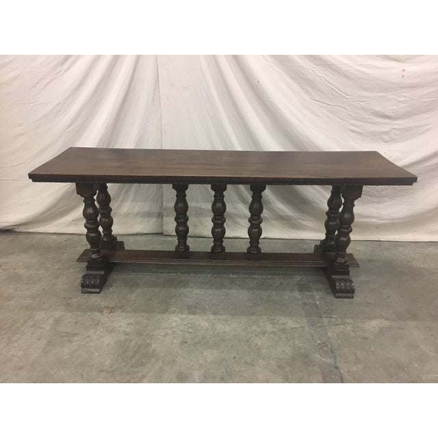 Brown 18th C Italian Walnut Console Table Sofa Table For Sale - Image 8 of 11
