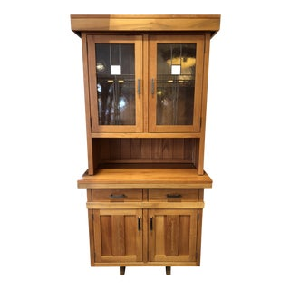 New Hoosier Craft Bungalow Collection Mission Hutch - 2 Pc.