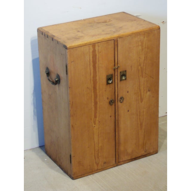 1880 Antique Pine Cabinet/Chest For Sale - Image 12 of 13