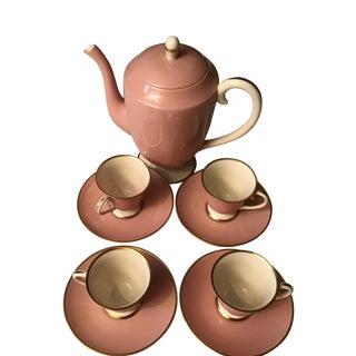 Vintage Flintridge China Pink Tea Service - Set of 9 For Sale