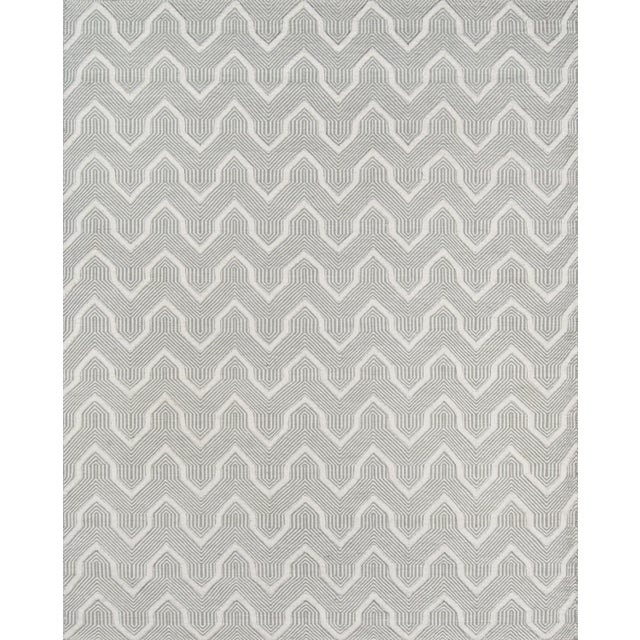 Textile Erin Gates by Momeni Langdon Prince Grey Hand Woven Wool Area Rug - 7′6″ × 9′6″ For Sale - Image 7 of 7