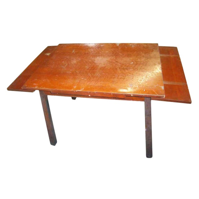 Distressed Adjustable Dining Table For Sale