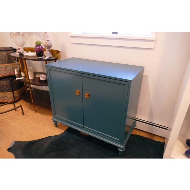 Tea Century Chest With Gold Hardware For Sale In New York - Image 6 of 11