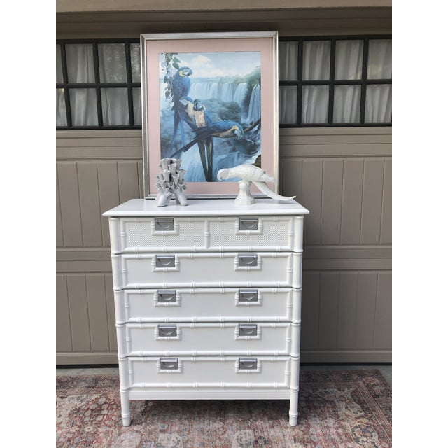 Wood Stanley Furniture Faux Bamboo Chest of Drawers For Sale - Image 7 of 10