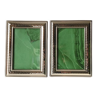Hammered Silver Photo Frames - A Pair