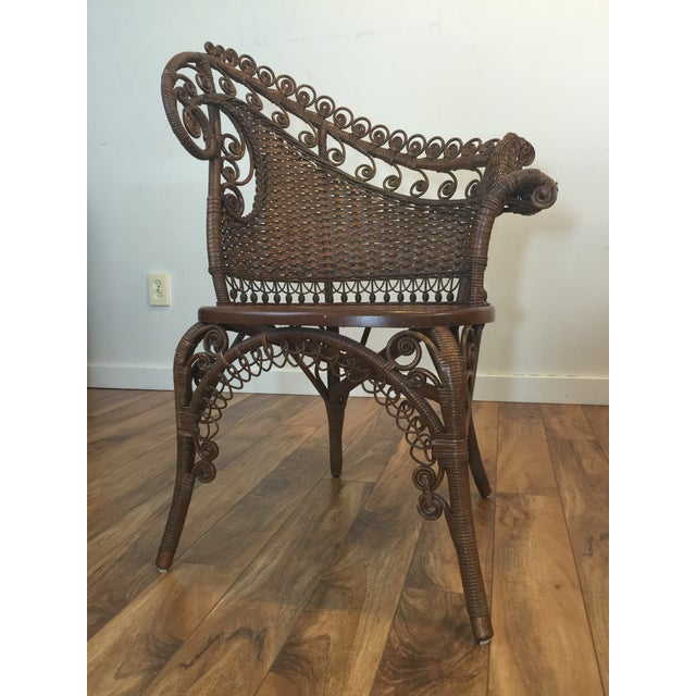 Antique Wicker Photographer's Chairs - A Pair For Sale In Seattle - Image 6 of 11