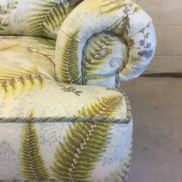 Green Oversized Rocking Club Chair in Fern Upholstery For Sale - Image 8 of 11