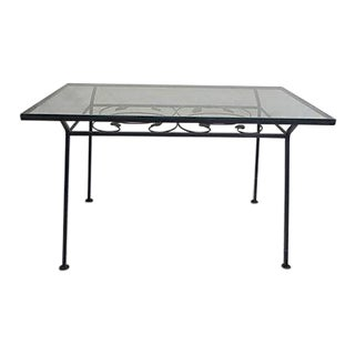 Modern Wrought Iron Patio Table With Grapes