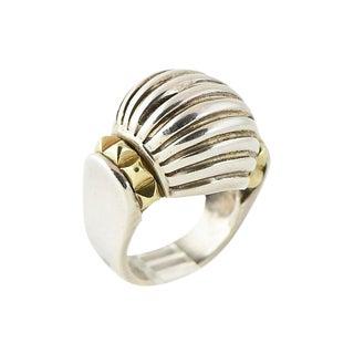 20th Century Contemporary Caviar Lagos Silver & Gold Dome Ring For Sale