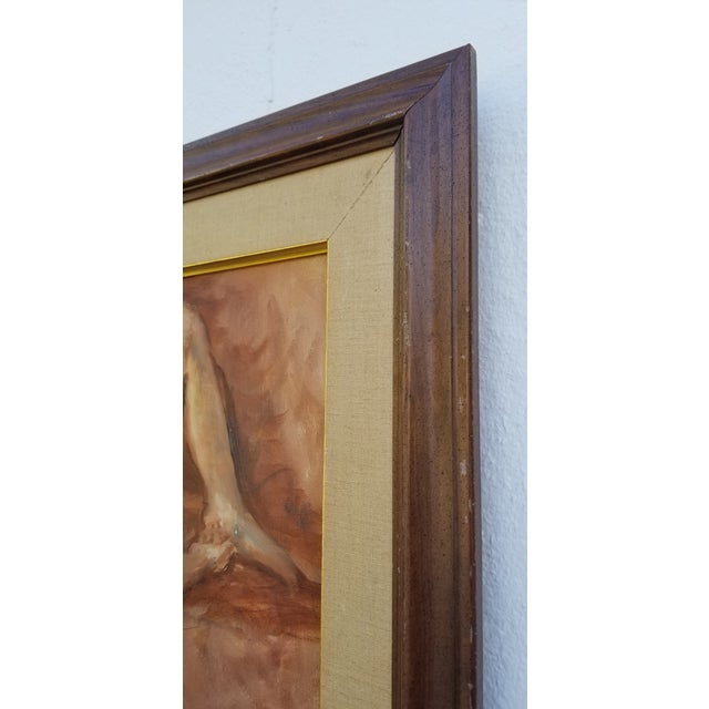 1970s Abstract Nude Female Figure Painting For Sale - Image 11 of 13