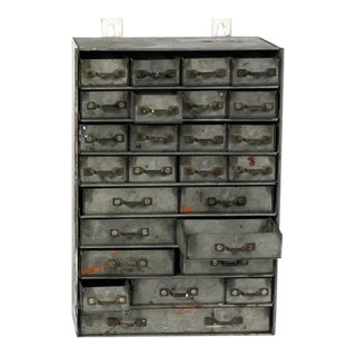 French Metal Drawers Circa 1900 For Sale