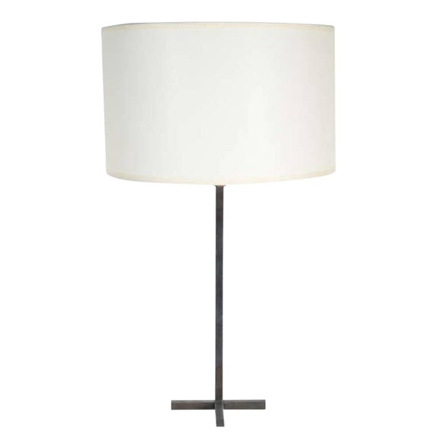 Customizable Bud Bronze Table Lamp with X-Base - Image 1 of 3