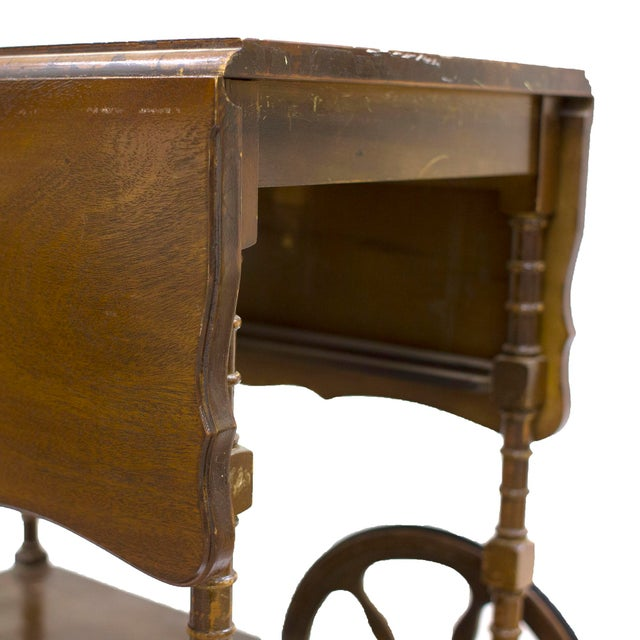 Mid-Century Wood Bar Cart - Image 4 of 5