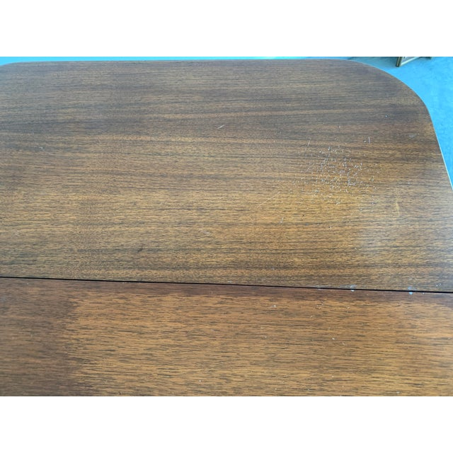 Auburn Antique Mutual Furniture Co. Flip Top Mahogany Card Table For Sale - Image 8 of 12