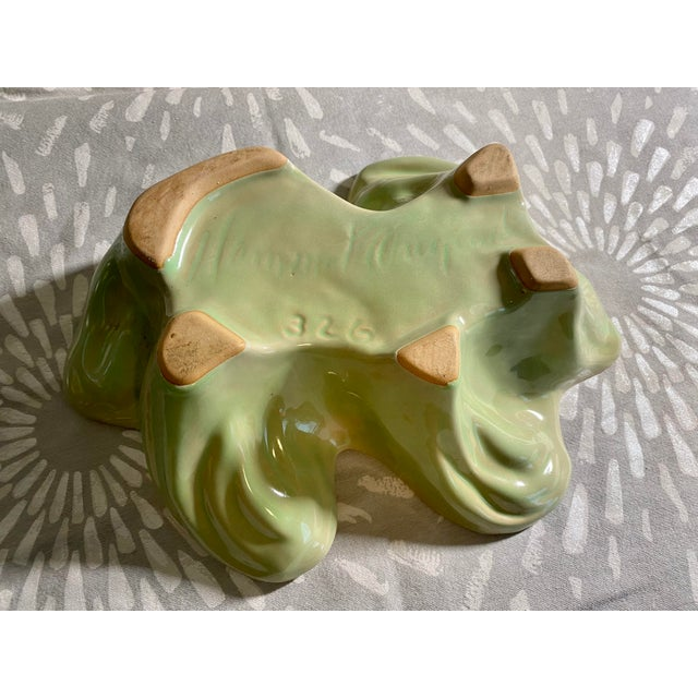 Clay Vintage Hammat Mid-Century Pastel Green Glazed Pottery For Sale - Image 7 of 9
