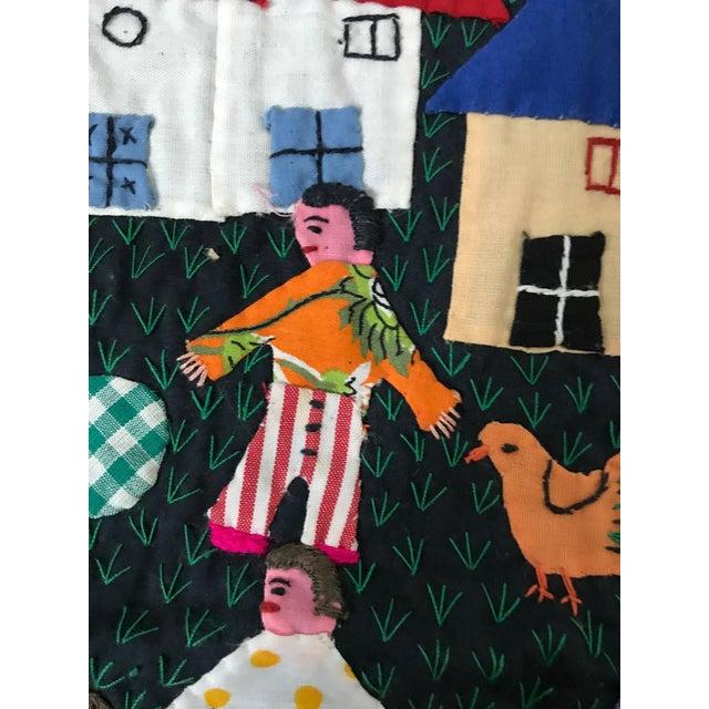 Handmade Columbian Folk Art Embroidery - Image 5 of 6