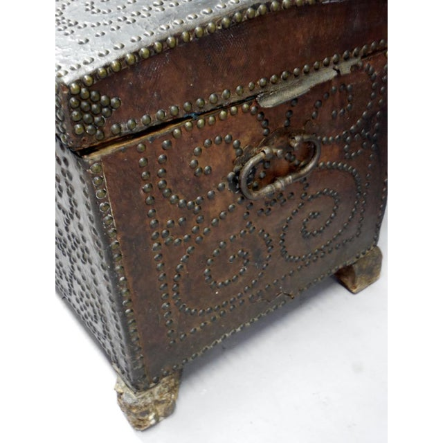 Spanish Leather Trunk For Sale In Los Angeles - Image 6 of 11