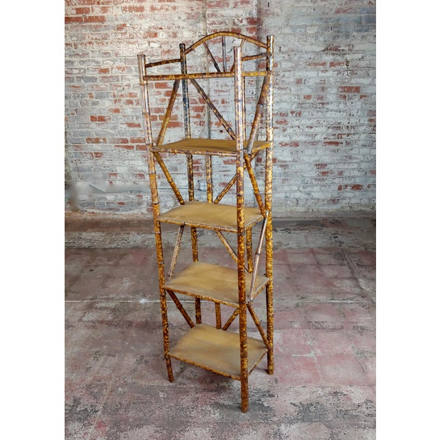19th Century Original Victorian 5 Tier Bamboo Bookstand For Sale - Image 9 of 9