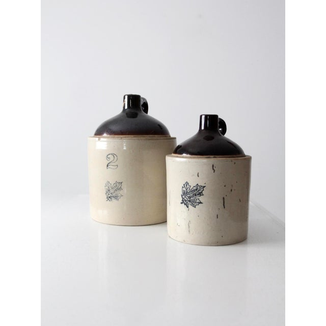 Antique Western Stoneware Jugs - A Pair For Sale - Image 4 of 9