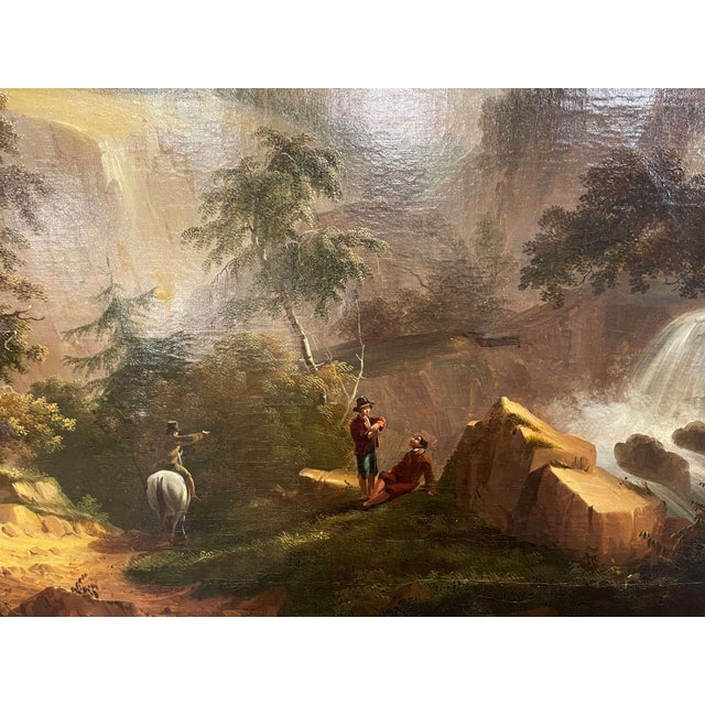 Canvas 19th Century French Oil on Canvas Pastoral Painting in Carved Gilt Frame Signed For Sale - Image 7 of 13