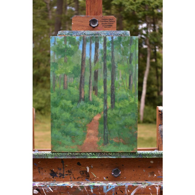 """Wood """"Back Yard Path"""", Contemporary Painting by Stephen Remick For Sale - Image 7 of 9"""