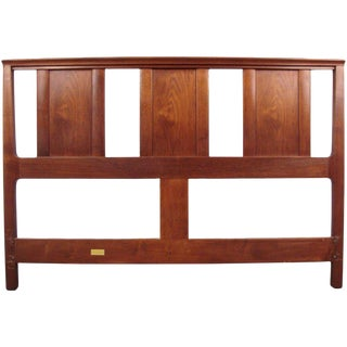 Edward Wormley for Dunbar Walnut Janus Headboard For Sale