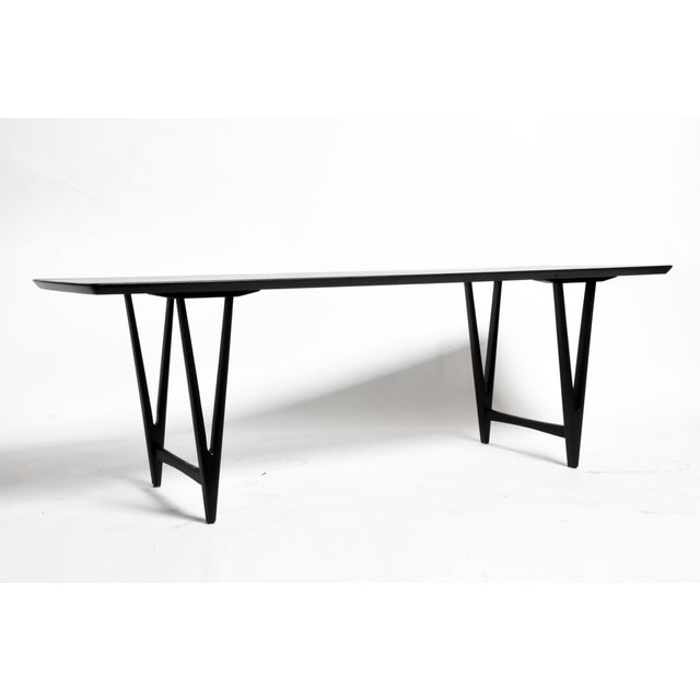 Mid-Century Modern Mid Century Modern Painted Black Teakwood Coffee Table For Sale - Image 3 of 13