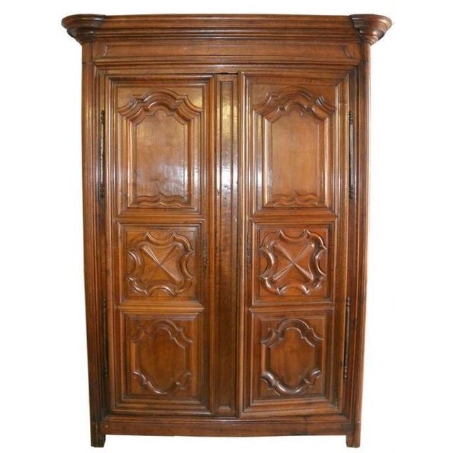 French 18th Century French Walnut Armoire For Sale - Image 3 of 3