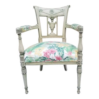 Italian Neoclassical Painted Armchair For Sale