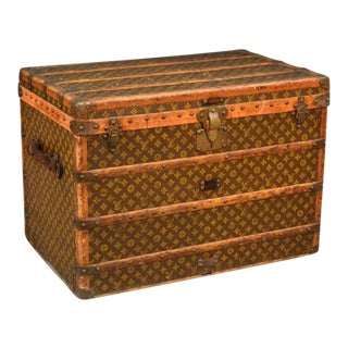 1930s Louis Vuitton Monogram Steamer Trunk For Sale