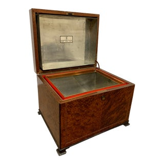 Alfred Dunhill of London Early 20th C. Large Cigar Humidor Box For Sale