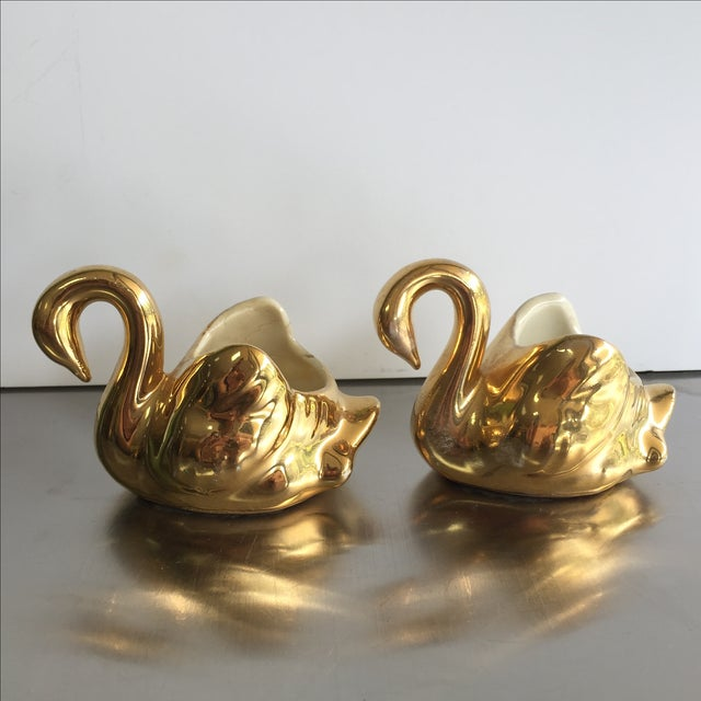 Gold Swan Containers - Pair - Image 2 of 4