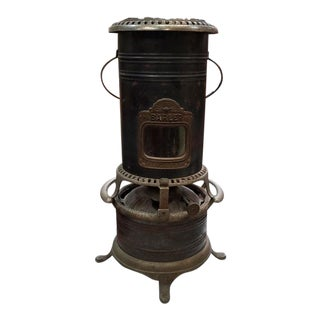 Antique Decorative Metal & Iron Furnace Room Accent For Sale