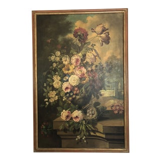 1930s Neapolitan Oil on Canvas Still Life For Sale