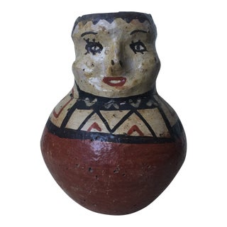 1910s Shipibo Effigy Pottery Vessel For Sale