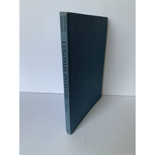 1930 Colonial Interiors by Edith Tunis Sale. Blue hardcover cloth bound second series printing. Does not have dust jacket.