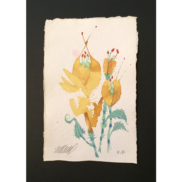 """Prickly Yellow Tulips"" Original Watercolor - Image 2 of 3"